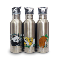 Picture of all three endangered species stainless steel water bottles from New Wave Enviro.