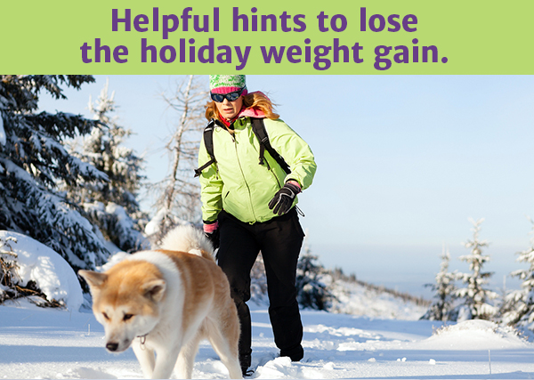 Helpful hints to lose the holiday weight gain.