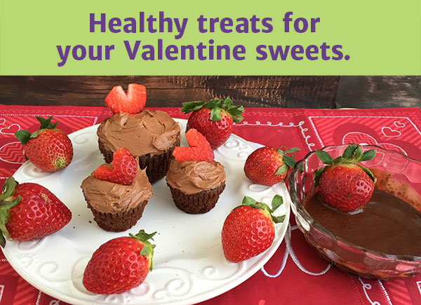 Healthy treats for your Valentine sweets.