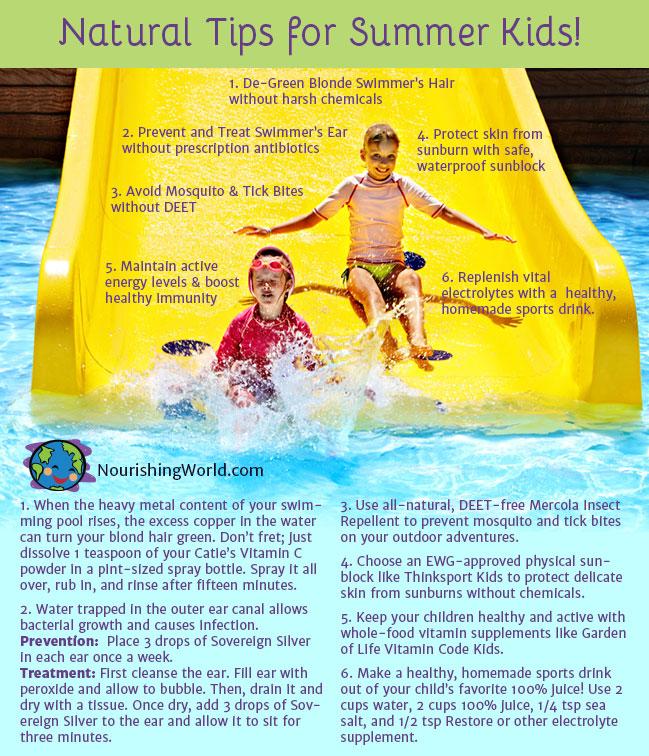 Natural Tips for Summer Kids!