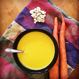 MCT Oil makes this carrot soup a perfect Keto meal