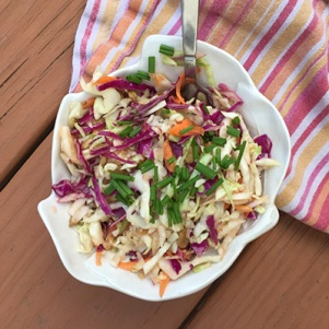 A picture of our Asian Keto Cabbage Salad