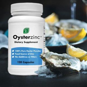 Picture of OysterZinc next to a plate of oysters.
