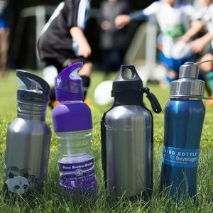 Picture of a Panda Flip & Sip Water Bottler, Perfosal Glass Bottle, 40 oz Sport Bottle, And Double Walled Hot & Cold Water Bottles